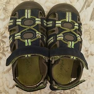 Cat & jack blue and green toddler sandals
